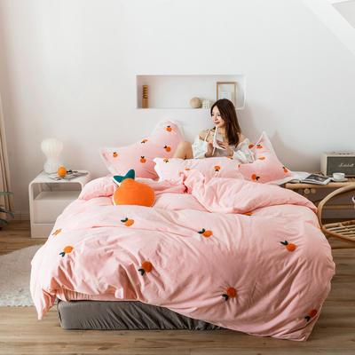 2019新款臻棉绒-橘子,桃子,胡萝卜 抱枕/个(含芯) 橘子粉色