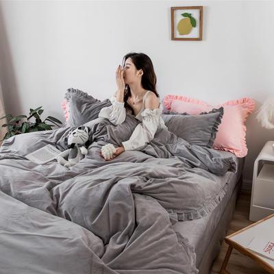 2019新款臻棉绒-初恋 1.5m-1.8m床单款 初恋灰色