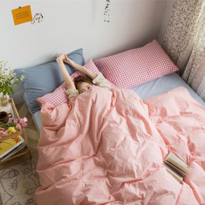 2020新款全棉水洗棉系列-混搭风 1.2m床单款三件套 混搭-粉色