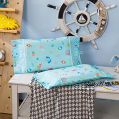 多米兔婴童用品儿童枕 梦幻公主枕套 30cmX50cm 小鱼儿蓝
