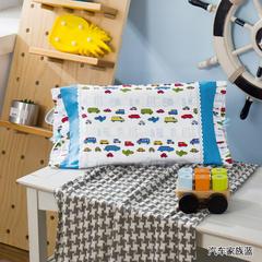 多米兔婴童用品儿童枕 梦幻公主枕套 30cmX50cm 汽车家族蓝