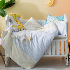 多米兔婴童用品儿童套件  绣花七件套 均码 开心记忆