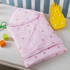 多米兔婴童用品儿童被  婴儿针织抱被 快乐熊粉