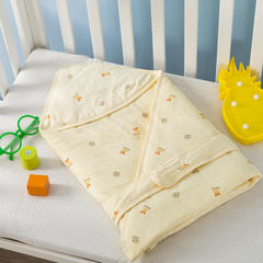 多米兔婴童用品儿童被  婴儿针织抱被 快乐熊黄