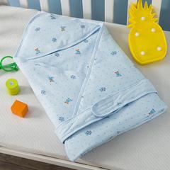 多米兔婴童用品儿童被  婴儿针织抱被 快乐熊蓝