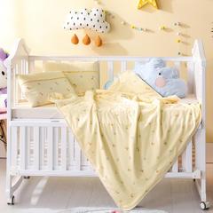 多米兔婴童用品儿童被  针织棉夏被 快乐熊黄