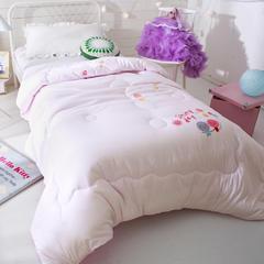 多米兔婴童用品儿童被 1.5米绣花春秋被 150x200cm 粉色