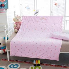 多米兔婴童用品儿童套件 儿童绣针织两件套 110*150CM 快乐熊 粉