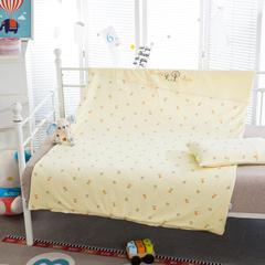 多米兔婴童用品儿童套件 儿童绣针织两件套 110*150CM 快乐熊 黄