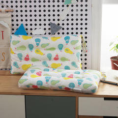 枕头类 中号水洗定型枕芯(30*50) 香香梨蓝