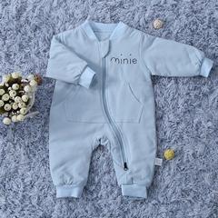 婴幼儿连体衣 50*80 mini连体衣 蓝