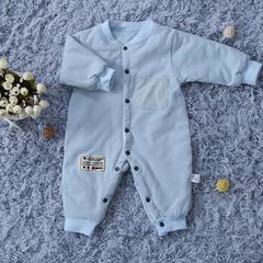 婴幼儿连体衣 50*80 字母连体衣 蓝