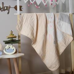 毯子系列 2018新款纱布毯子(八层) 105*105cm 八层亲子兔
