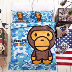卡通天丝夏被系列 150*200cm 迷彩猿
