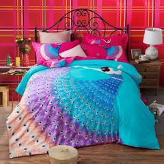 新品磨毛-新品磨毛套件 标准(1.5m-1.8m床) 轻歌曼舞(蓝)