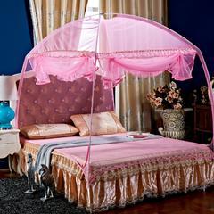 2017 新款蒙古包蚊帐 1.5m(5英尺)床 粉色