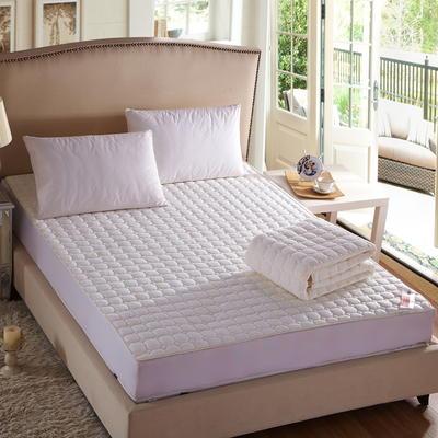 针织提花布夹棉防滑床护垫席梦思保护垫 薄款 90*200cm 米白