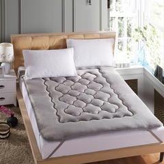 【垫之坊床垫供货 一件代发】法莱绒梅花型床垫加厚榻榻米软床垫 90*200cm 灰色