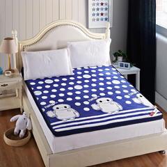 【垫之坊】时尚风格印花法莱绒立体加厚床垫榻榻米垫 90*200cm 卡通风