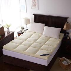 【垫之坊】纯色磨毛高密度加厚羽丝绒立体床垫保暖舒适 90*200cm 米黄