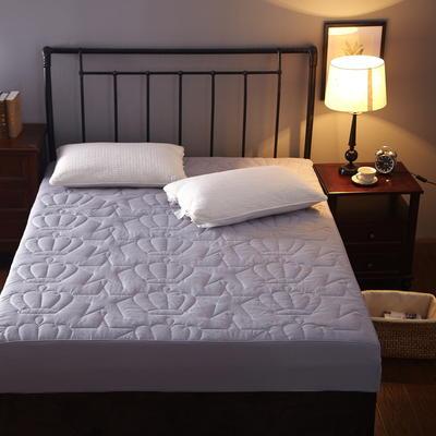 磨毛布纯色夹棉加厚床笠席梦思保护套 180cmx200cm 灰色