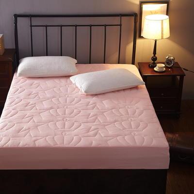 磨毛布纯色夹棉加厚床笠席梦思保护套 120cmx200cm 玉色