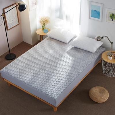 水晶绒夹棉床笠 絎绣加厚 席梦思保护垫 1.2m(4英尺)床 灰色
