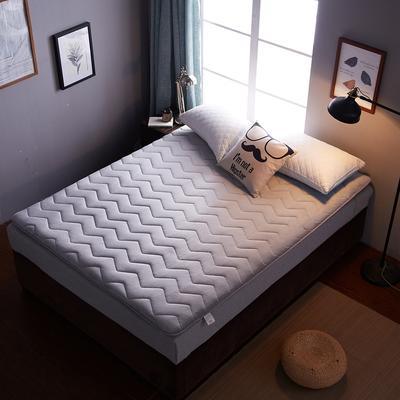 2018年爆款 法莱绒多针加厚 波浪 床垫床褥单人双人 90X200CM 灰色