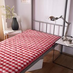 【垫之坊】色织水洗环保床垫学生开学季宿舍单人床褥子0.9 0.9*2.0米 粉色