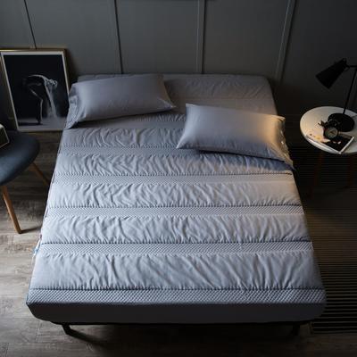全棉英威达抗菌纤维 夹棉床笠 单品 加厚席梦思保护垫 120cmx200cm 灰色