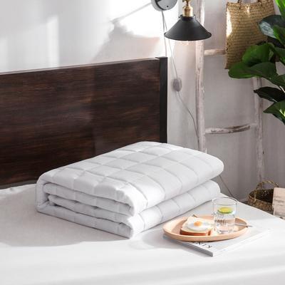 纯色 方格多针絎绣床护垫加厚席梦思保护垫床褥子 0.9*2.0米 白色