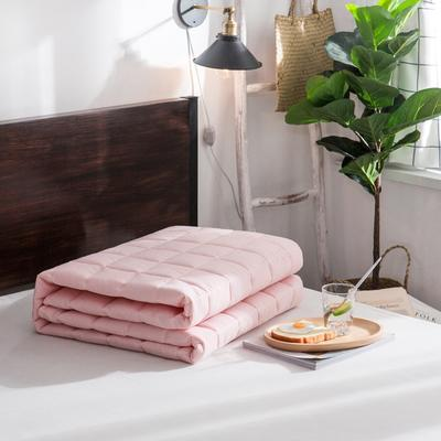 纯色 方格多针絎绣床护垫加厚席梦思保护垫床褥子 0.9*2.0米 玉色