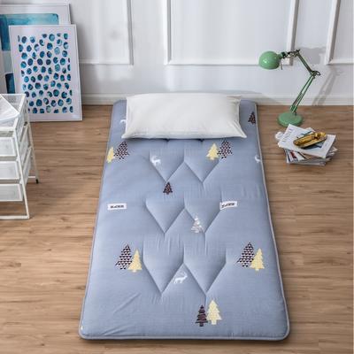 2019新花色单人学生床磨毛印花W单针绗缝床垫高性价比爆款打造 90X200CM 圣诞树