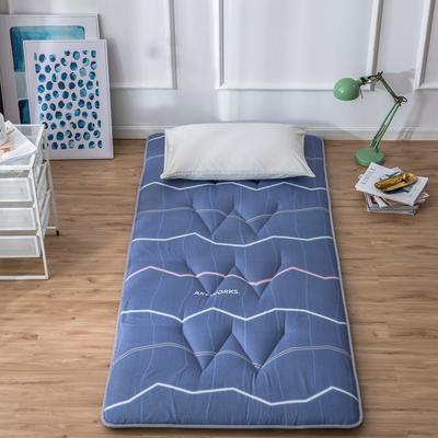 2019新花色单人学生床磨毛印花W单针绗缝床垫高性价比爆款打造 90X200CM 行云流水