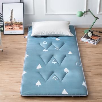 2019新花色单人学生床磨毛印花W单针绗缝床垫高性价比爆款打造