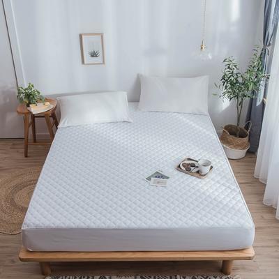 防水床笠 TPU防水层夹棉加厚席梦思保护垫 120cmx200cm 白色