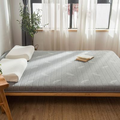2019年新款乳胶床垫记忆高回弹床垫防塌陷垫加厚地垫6cm10cm 180X200CM 9CM灰色羽毛