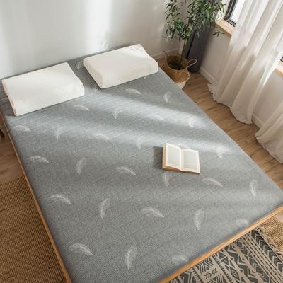 2019年新款乳胶床垫记忆高回弹床垫防塌陷垫加厚地垫6cm10cm 150X190CM 6CM灰色羽毛