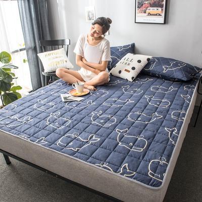 2019年印花床护垫席梦思保护垫单人双人宿舍家用床上用品180cm 90X200CM 鲸鱼