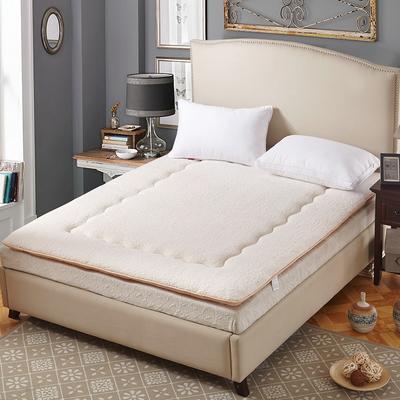 羊羔绒床垫学生开学0.9 单人宿舍 双人1.5米床褥 90*200cm 白色
