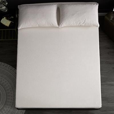 全棉毛巾布防水TPU床笠 针织围边 抗菌防螨 120cmx200cm 白色