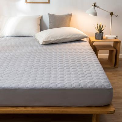 全棉抗菌防螨英威达纤维夹棉床笠可调节可定制席梦思保护垫 1.2m(4英尺)床 灰色
