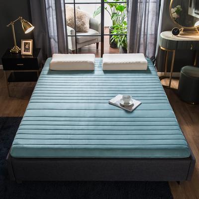 2019年新款水晶绒乳胶床垫高弹记忆海绵抗压耐压床垫 0.9*2.0米 水晶绒绿5cm
