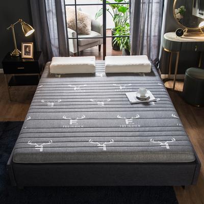 2019年新款水晶绒乳胶床垫高弹记忆海绵抗压耐压床垫 1.8*2.0米 针织鹿角5cm
