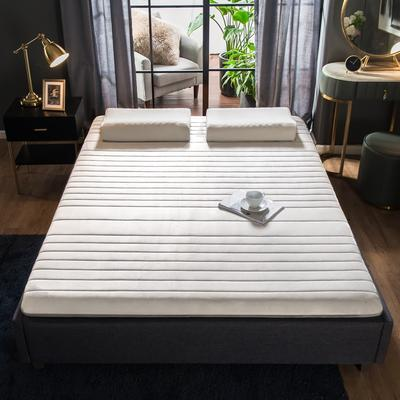 2019年新款针织乳胶床垫高弹记忆海绵抗压耐压床垫 0.9*1.9米 水晶绒白9cm