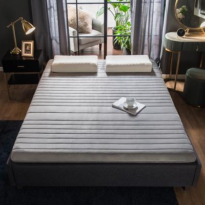 2019年新款水晶绒乳胶床垫高弹记忆海绵抗压耐压床垫 1.8*2.0米 水晶绒灰9cm