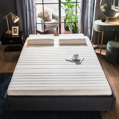 2019年新款水晶绒乳胶床垫高弹记忆海绵抗压耐压床垫 0.9*2.0米 针织珍珠白9cm
