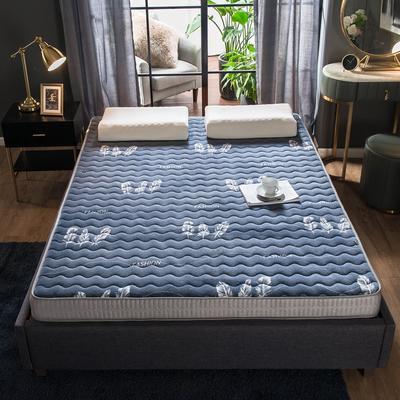 法莱绒立体印花床垫5D透气底部加厚保暖1.5 1.8米双人加大 0.9*2.0米 羽毛(9cm)