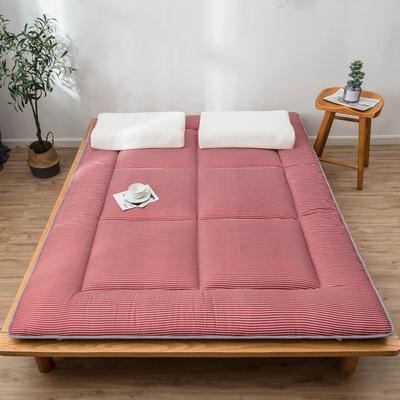 爆款推薦 北歐良品風格 簡約家居 床墊床褥子學生單人雙人 0.9*2.0學生 紅小條