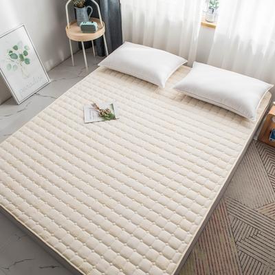 酒店宾馆家用可水洗床护垫薄床垫褥子席梦思保护垫 1.0*2.0米 米白